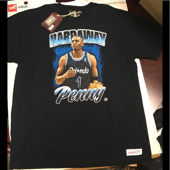 size 40 bde45 0772f Penny Hardaway Mitchell and Ness T-shirt NWT